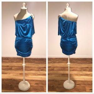 City Triangles Dress | Dance Dress | Blue Sz M